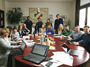 Training preparation workshop in Florence works on international curriculum